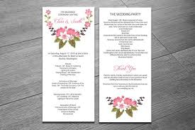 ceremony program template wedding ceremony program template invitation templates