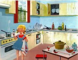 mondorama 2000 a la cuisine devant la cuisinière à gaz