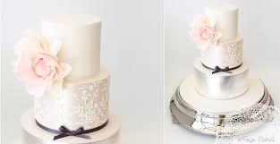 lace u0026 metallics wedding cake design cake geek magazine cake