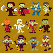 vintage halloween character poster design set with reaper vampire