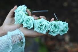 mint green headband mint green floral headband by littlehomemakes on etsy