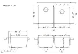 Kitchen Sink Dimensions - incredible double sink kitchen size similiar sink measurements