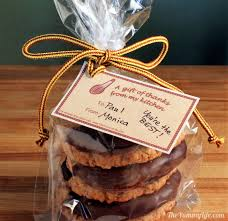 cookie gift say thanks with a cookie gift bag