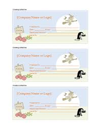 halloween gift certificates u2013 microsoft word template gift