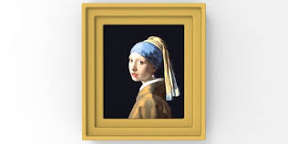 painting girl with the pearl earring girl with a pearl earring painting by vermeer for 3d