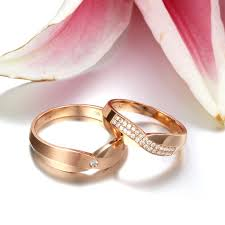 couples wedding rings handcrafted marriage rings half carat diamond on 18k gold jeenjewels