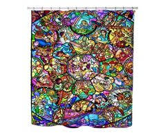 Shower Curtains For Glass Showers Stitch Mickey Collection Polyester Waterproof Bath Shower
