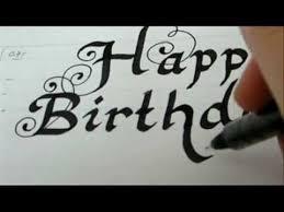 happy birthday draw happy birthday fancy letters