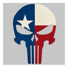 Texas Flag Image Nested Logo Sticker