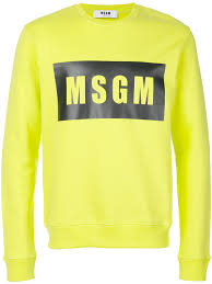 msgm logo print sweatshirt green 38 men incredible prices m
