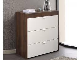 meuble commode chambre commode meuble commode frais meuble mode noyer blanc 3 tiroirs
