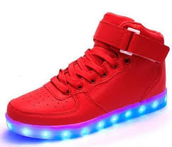light up shoes gold high top stock item quality 8 colors led shoes 2016 autumn winter high top