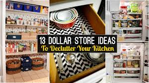 How To Declutter Your Home by 13 Declutter Kitchen Ideas From Dollar Store Youtube