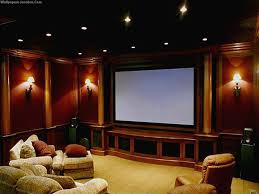 interior modern home theatre with 5 leather home theatre seating