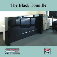 Reception Desk Black Black Office Counter Gloss Black Reception Desk