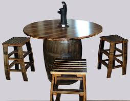 Amish Dining Tables Amish Dining Table Character Rustic Hickory Barrel Style With Four