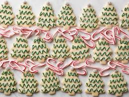 minty cutout christmas tree cookies recipe food network recipe