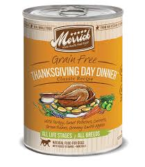 merrick classic recipes thanksgiving day dinner grain free canned