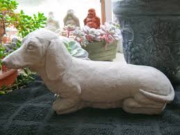 concrete garden projects how to make statuary molds dachshund