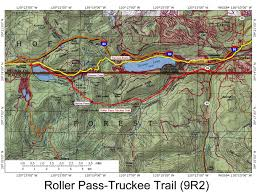 Pacific Crest Trail Washington Map by Historic Routes Paths Roads Trails Ca Or Wa