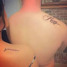 tattoo couple king and queen collection of 25 queen and king side rib tattoos