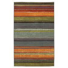 10 X 8 Area Rug 5 X 8 Rainbow Stripes Area Rug With Orange Blue Green Purple