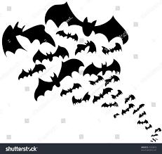 Halloween Bat Stencils by Flock Bats Halloween Decoration Stock Illustration 71539819