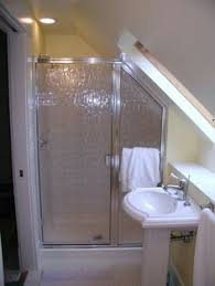 door framing slanted ceiling shower design ideas pictures