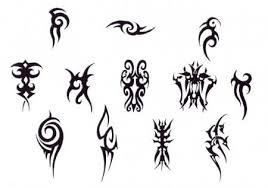 simple black tribal leo tattoo design
