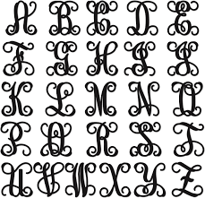 initials monogram unfinished wood vine monogram