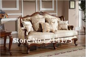 CIF Shipping European American Style Cloth Art Sofa Countryside - Cloth sofas designs