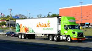 shaws supermarket grocery store delivery truck 52547300