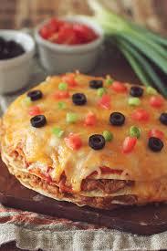 round table taco pizza crockpot layered mexican pizza mexican pizza crockpot and mexicans