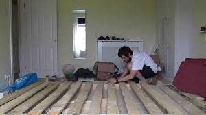 How To Build A Platform Bed With Pallets by Pallet Bed Frame Timelapse Youtube