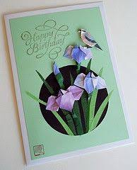 paper greeting card 3 photos origami daffodils and butterflies