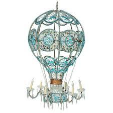 turquoise beaded chandelier italian beaded hot air balloon chandelier at 1stdibs
