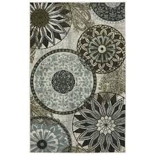 Round Flower Rug by Shop Mohawk Home Inspired India Cream Rectangular Indoor Machine