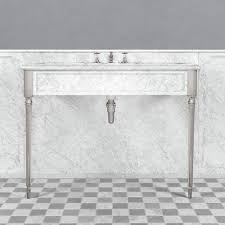 carrara marble console sink lb 6334 wh edwardian single carrara marble console kallums bathrooms