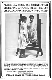 oakland board of trade ad u2013 pseudo african american vernacular