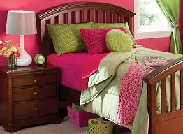 pink and green room color story decorating with lime green complementary raymour