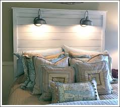 old door new headboard unique beach cottage style and bedrooms