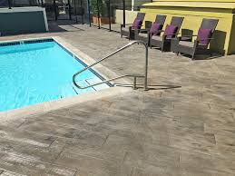 faux wood look for pool deck