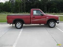 mazda truck 1997 electric currant red metallic mazda b series truck b2300 se