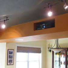 How To Hang Projector From Ceiling by Creative Hidden Projector Installation For A Home Theater Or Man