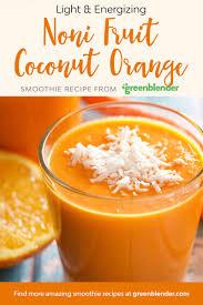Teh Noni noni fruit coconut orange noni fruit smoothie recipes and smoothies