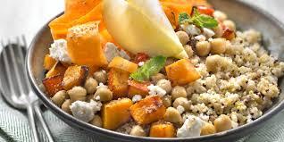cuisiner quinoa bowl boulgour millet quinoa courge et pois chiches
