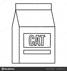 cat food bag icon outline style u2014 stock vector ylivdesign