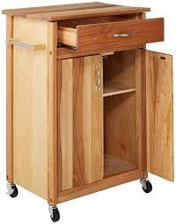 amazon com catskill craftsmen butcher block cart with flat doors