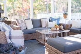 Decorating Screened Porch Bringing Fall Into Our Screened Porch Finding Home Farms