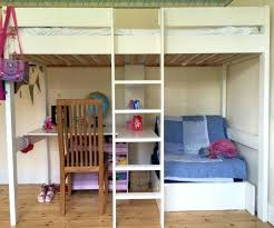 Wooden Bunk Bed With Desk Bunk Bed Office Underneath Size Loft Bed With Desk